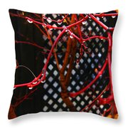 Raining Autumn Leaves Throw Pillow by Xueling Zou