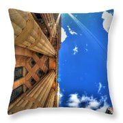 Raining Rays Throw Pillow