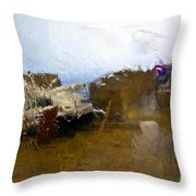Rainy Day Abstract Throw Pillow