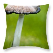 Rainy Day Mushroom Throw Pillow