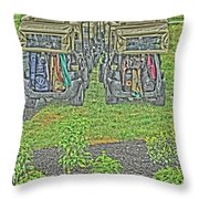Rainy Day On The Links Throw Pillow
