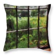 Rainy Day Throw Pillow by Susan Savad