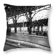 Rainy Departure Throw Pillow