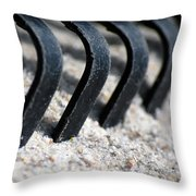 Rake In Sand Throw Pillow