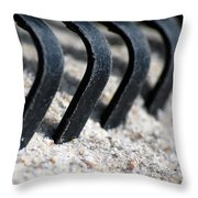 Rake In Sand Throw Pillow