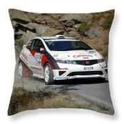 Rally Race Throw Pillow