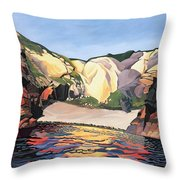 Ramsey Island - Land And Sea No 2 Throw Pillow