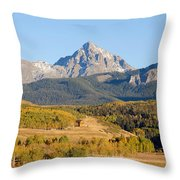 Ranching The Sneffels Throw Pillow