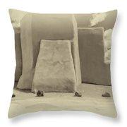 Ranchos Church Antique Plate  Throw Pillow