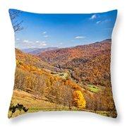 Randolph County West Virginia Throw Pillow