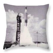Ranger 7 Launch Throw Pillow