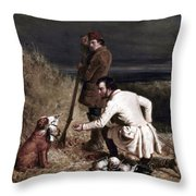 Ranney: Duck Shooting Throw Pillow