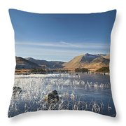 Rannoch Moor - Winter Throw Pillow