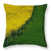 Rapeseed Growing In A Field, Ireland Throw Pillow