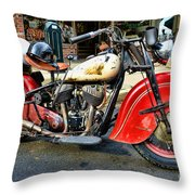 Rare Indian Motorcycle Throw Pillow