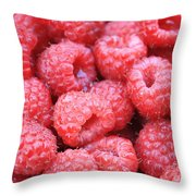 Raspberries Throw Pillow