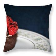 Raspberry Mascarpone Throw Pillow