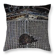 Rat Ride Throw Pillow