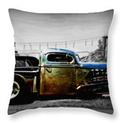 Rat Rod Profile Throw Pillow