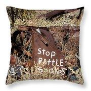 Rattlesnake Warning Throw Pillow