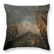 Magical Rattling Sky Throw Pillow