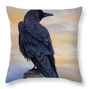 Raven Beauty Throw Pillow