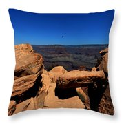 Raven Flying Near Ooh Aah Point Throw Pillow