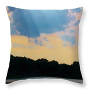 Rays Above Throw Pillow