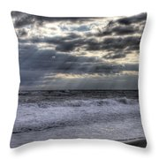 Rays Over The Atlantic Throw Pillow