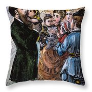 R.b. Hayes: Campaign, 1876 Throw Pillow by Granger