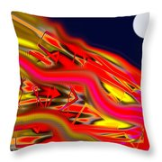 Re-entry Burn Throw Pillow