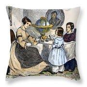 Reading, 1866 Throw Pillow