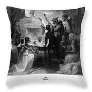 Reading Emancipation Proclamation Throw Pillow