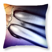 Reading Glasses Throw Pillow by Olivier Le Queinec