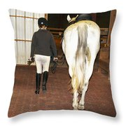Ready For The Dressage Lesson Throw Pillow