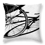 Ready To Ride Throw Pillow by Susan Leggett