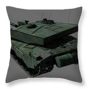 Rear View Of A British Challenger II Throw Pillow by Rhys Taylor