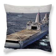 Rear View Of Uss Green Bay Throw Pillow