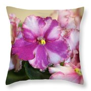 Rebel Petals Throw Pillow