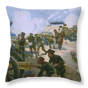 Rebellion In Venice Throw Pillow