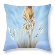 Rebirth Of A Woman - Ascension Throw Pillow