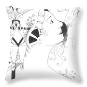 Recalling Dreams Throw Pillow