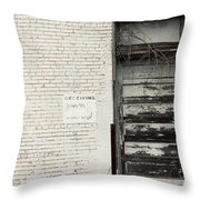Receiving Throw Pillow