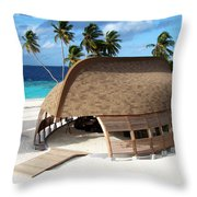 Reception Dhoni. Maldives Throw Pillow