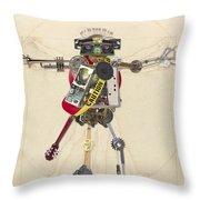 Reconstructed Man Throw Pillow
