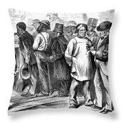 Reconstruction, 1870 Throw Pillow