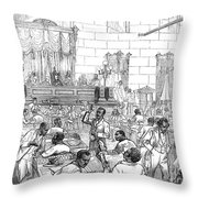 Reconstruction, 1876 Throw Pillow