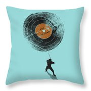 Record Breaker Throw Pillow