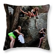 Recruiting Wild Untamed Dancers Throw Pillow