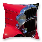 Red 1932 Oldsmobile Throw Pillow